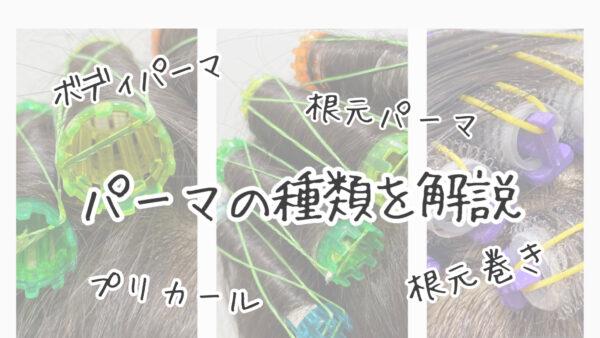 【違いわかりますか?】根元パーマとプリカールそしてボディパーマ。わかりやすく解説します!